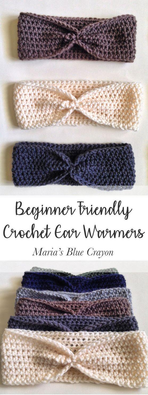 Simple Crochet Ear Warmer Pattern for Beginners   Ganchillo, Tejido ...