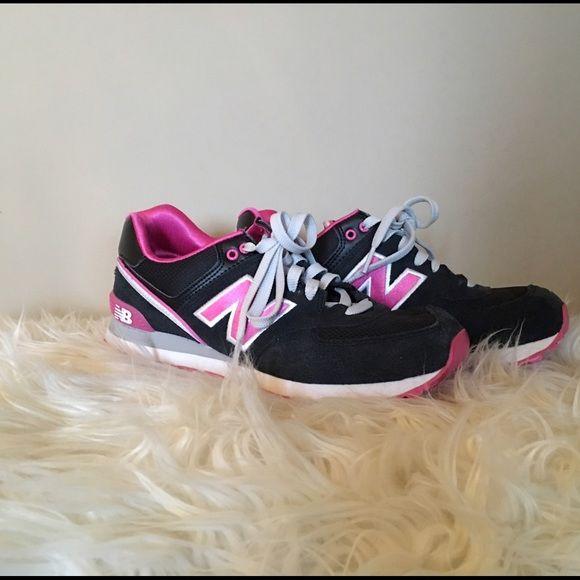 new balance black and pink 574