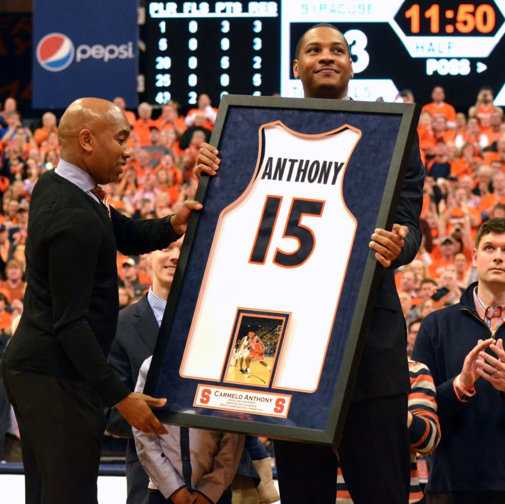 Congratulations To Carmelo Anthony Whose No. 15 Syracuse