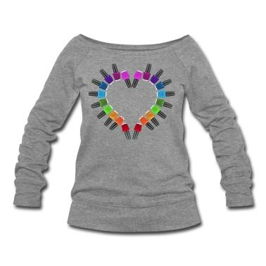 Nail Polish Heart Sweatshirt | Spreadshirt | ID: 8848568