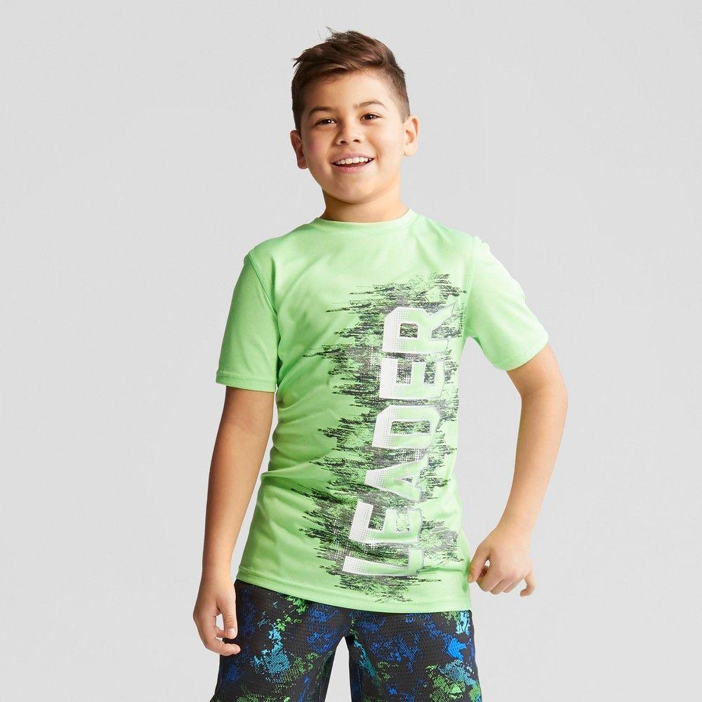 008e21852 Boys' Graphic Tech T-Shirt Leader - C9 Champion Green Heather S ...