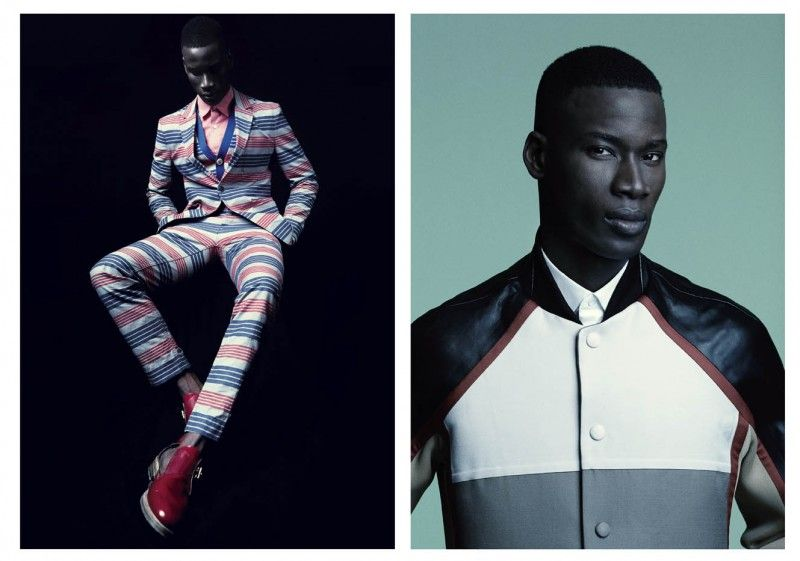Julia Noni shooted the black male modelsDavid Agbodji and Dominique Hollington for cover story of Commons & Sense Man Magazine, March 2013. The stylist Christian Stroble wore the models with...