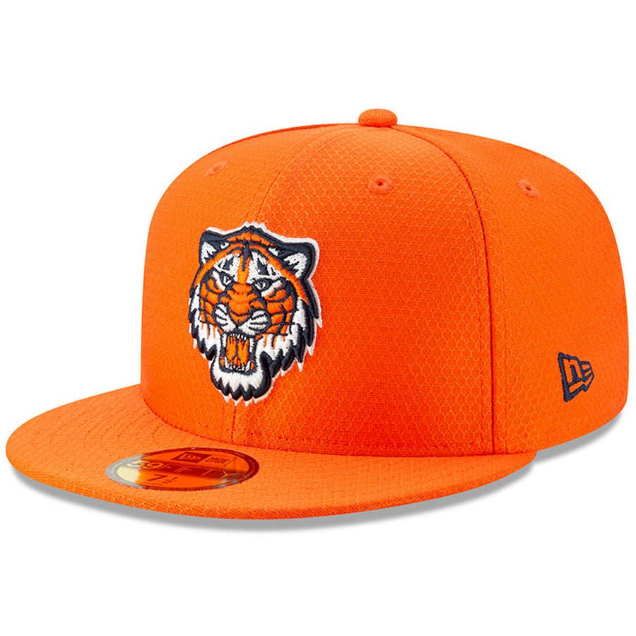 48767663e8c12 Men s Detroit Tigers New Era Orange 2019 Batting Practice 59FIFTY Fitted Hat