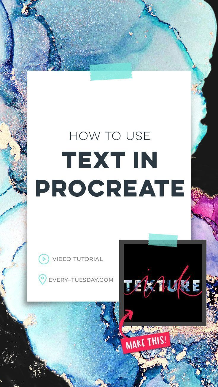 How to use Text in Procreate in 2020 Ipad lettering