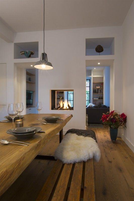 scheidingswand met open haard openhaard keuken openhaard openhaard ontwerp keukeneetkamer