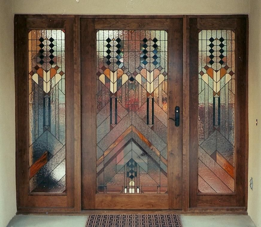 WOW!!!! Look at this beautiful, unique stained glass custom front ...