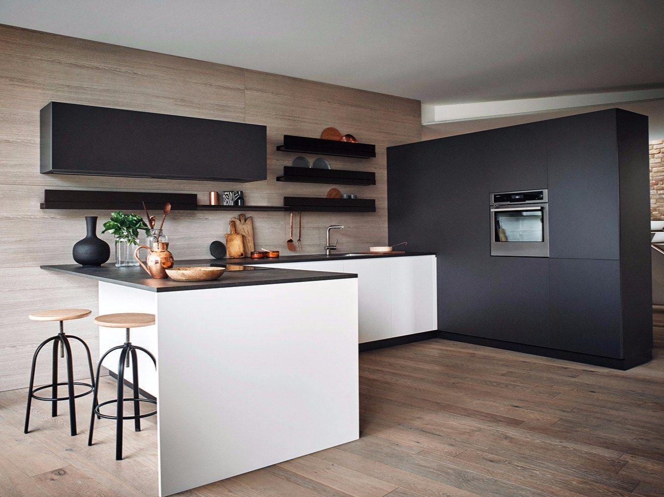 Magasin De Meuble De Cuisine Italienne cuisine intégrée laquée avec péninsule maxima 2.2