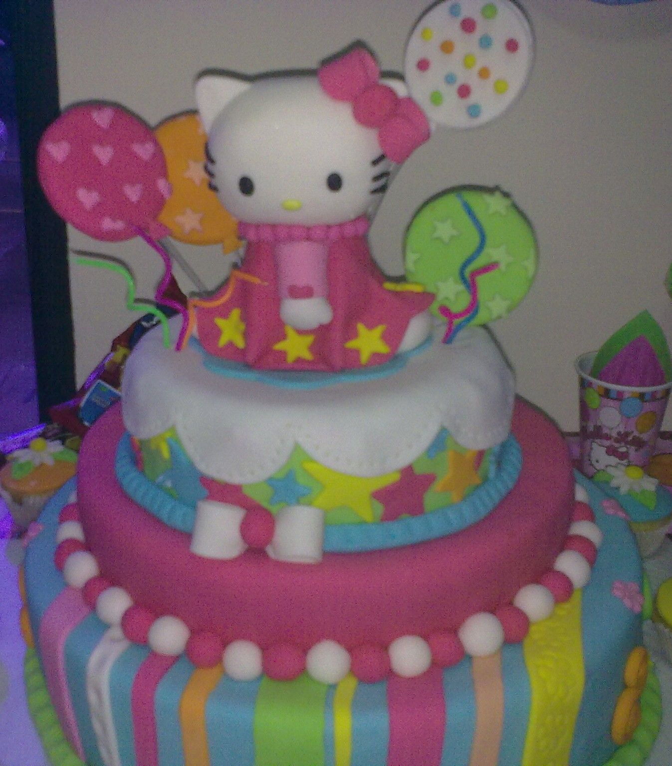 Hello Kitty Cake Happy Birthday Vicky My Work My Creations