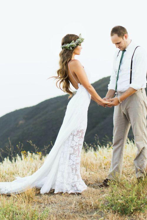 Beach Wedding Dress Summer Outdoor Bridal Gown Spaghetti Bridal