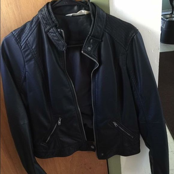 Hollister faux leather jacket Never worn Hollister Jackets & Coats