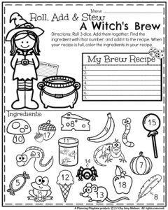 October First Grade Worksheets Planning Playtime First Grade Math Worksheets Halloween Worksheets Halloween Math Activities