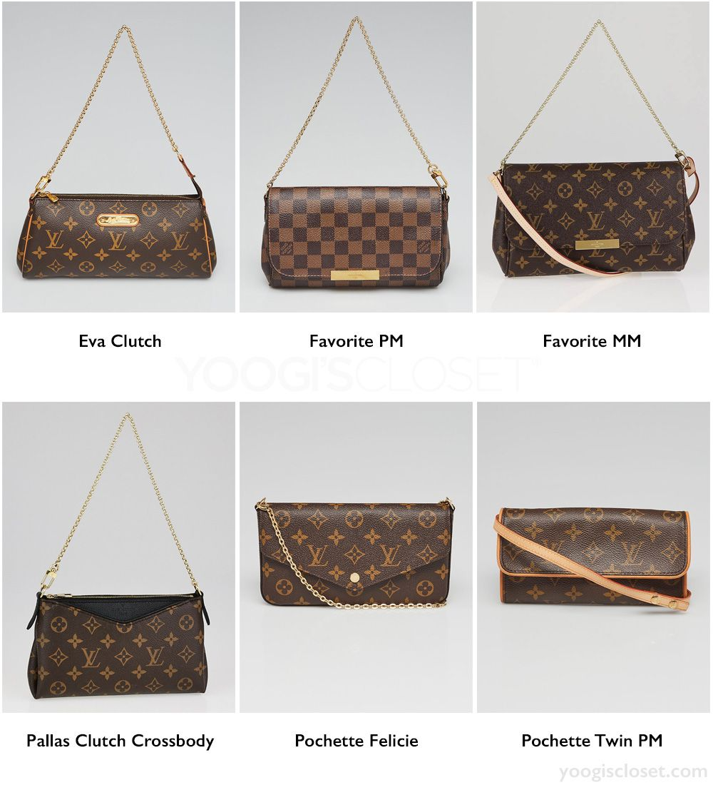 fc12b55e628 Best Louis Vuitton Monogram and Damier Small Crossbody Bags  Eva Clutch
