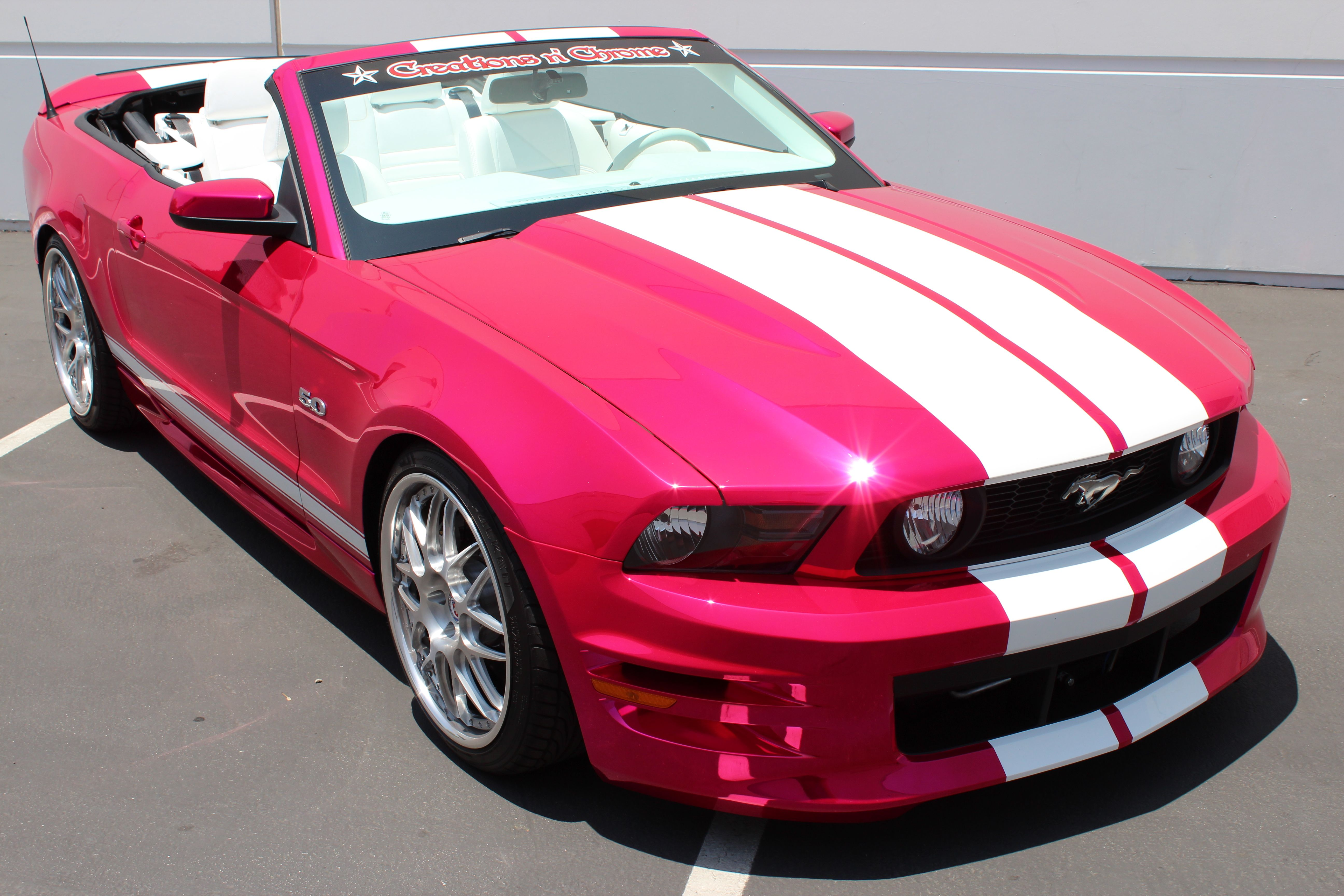 Pink Ford Mustang 5