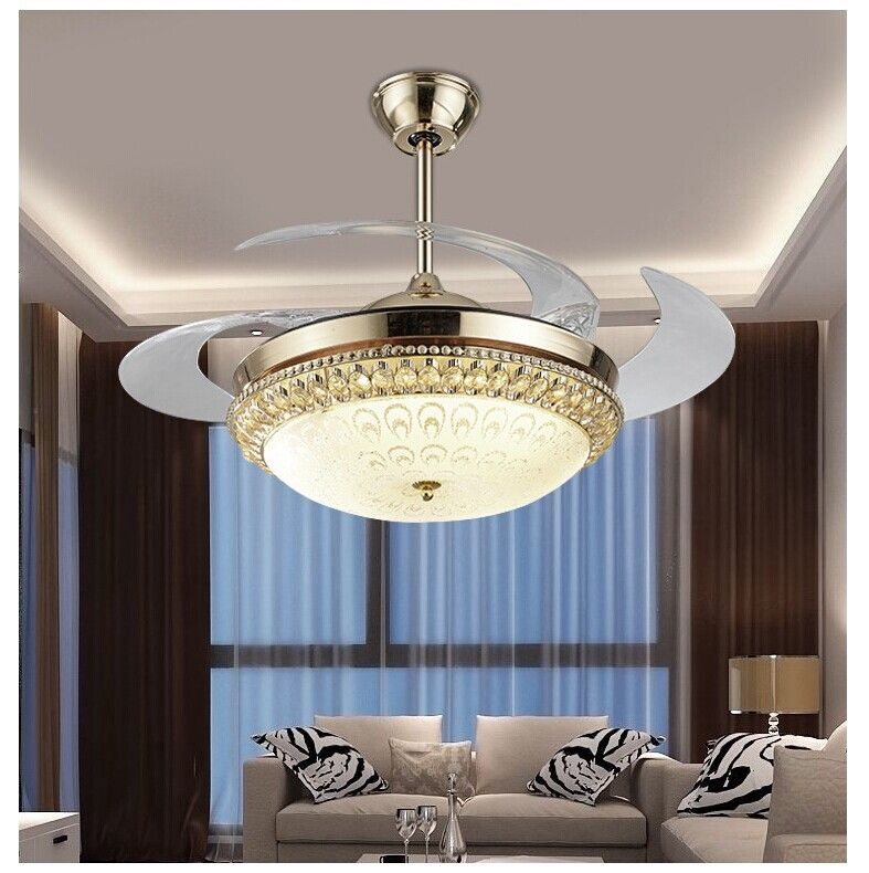 Modern dining room led 110 240 vceiling fan lamp restaurant kitchen creative ceiling fan with