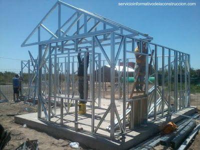 Arquitectura de casas construcci n con marcos de acero - Estructura metalicas para casas ...