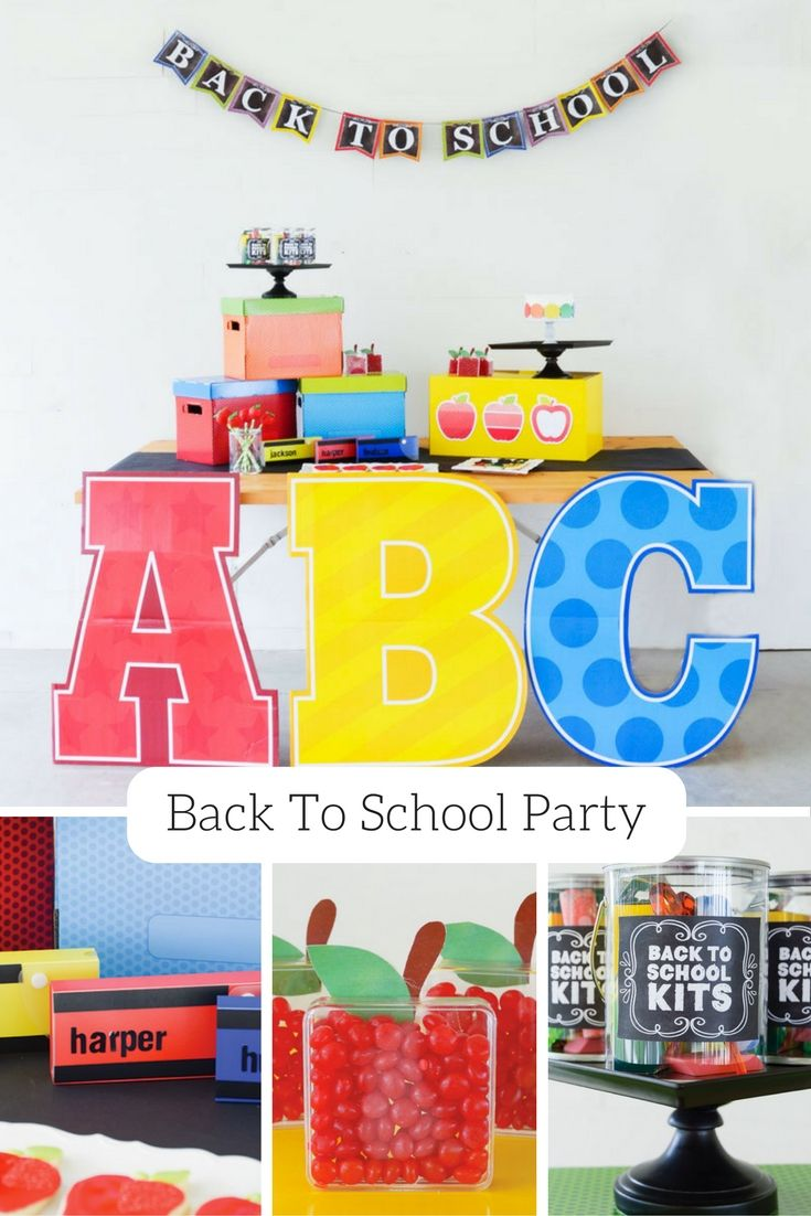 It's hard to believe, but summer is already winding down, and it's time to start thinking about back-to-school gear, clothes and ways to get kids excited for the upcoming school year. See how @lovetheday threw a colorful back-to-school party complete with apple cake pops, back-to-school kits and apple box party favors.