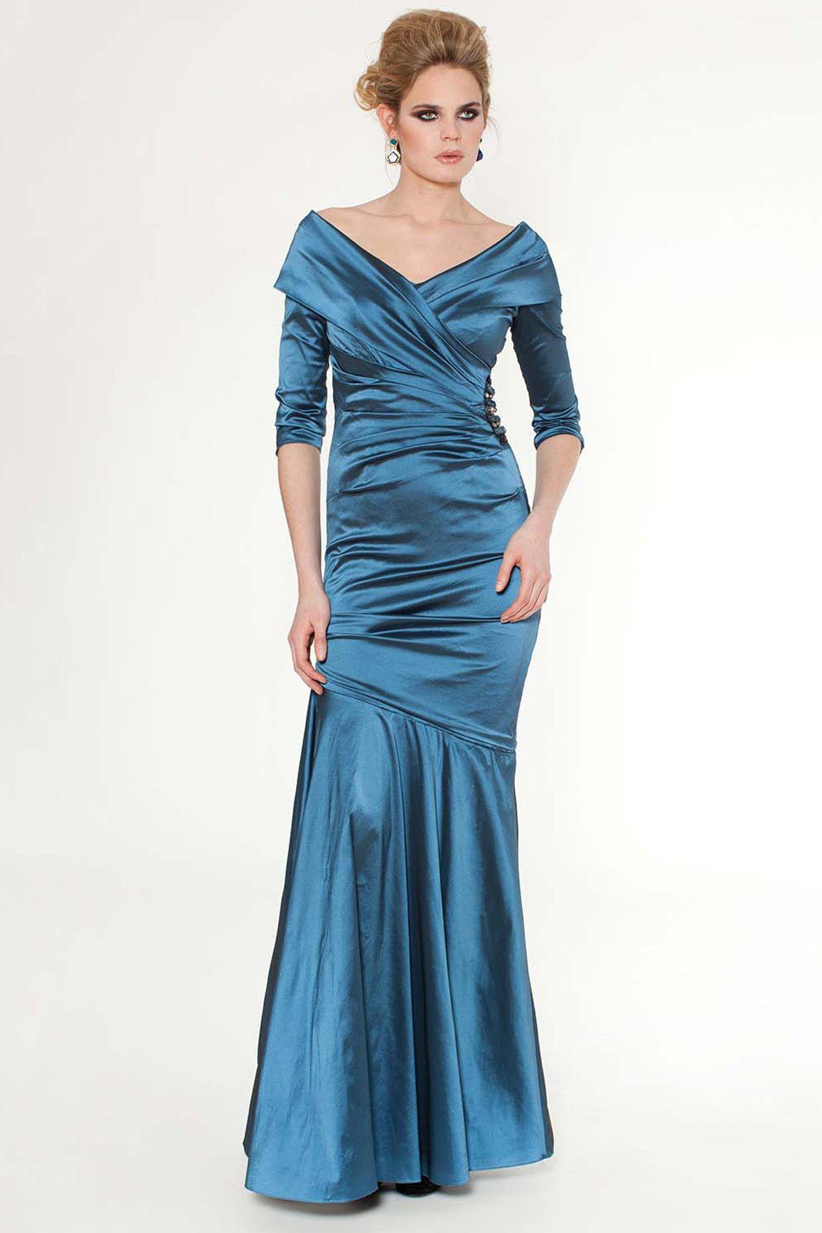 Portrait Collar Evening Dresses | shop evening gowns teal v neck ...