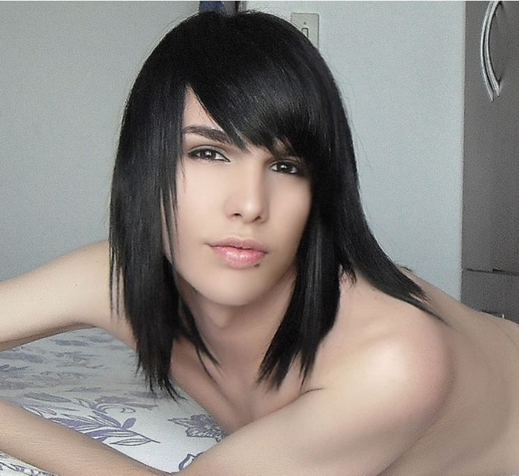 long hair emo feminine boy | (Hair Styles) Androgynous