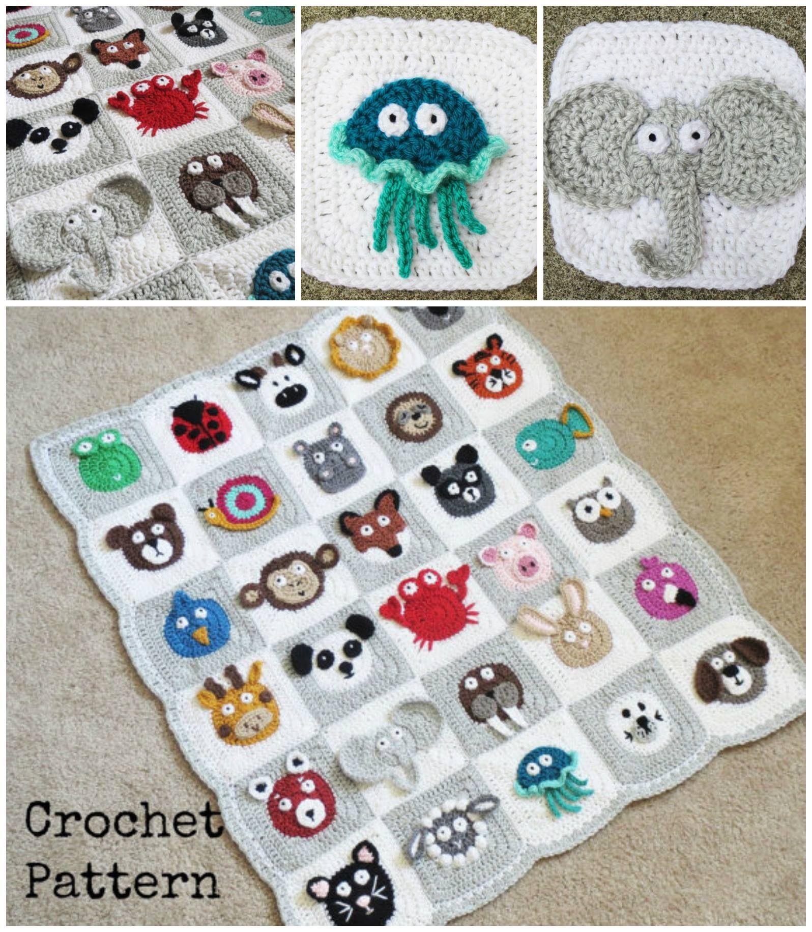 Crochet Zoo Baby Blanket Pattern Is Adorable   Patrones y Tejido