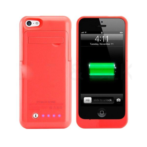 iphone 5c battery case slim external rechargeable backup battery charger charging 14634
