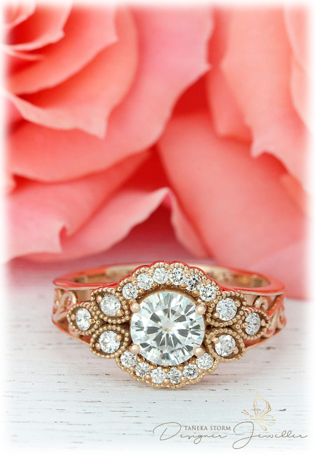 Romance in full bloom. | Jewellery by Taneka Storm | Pinterest