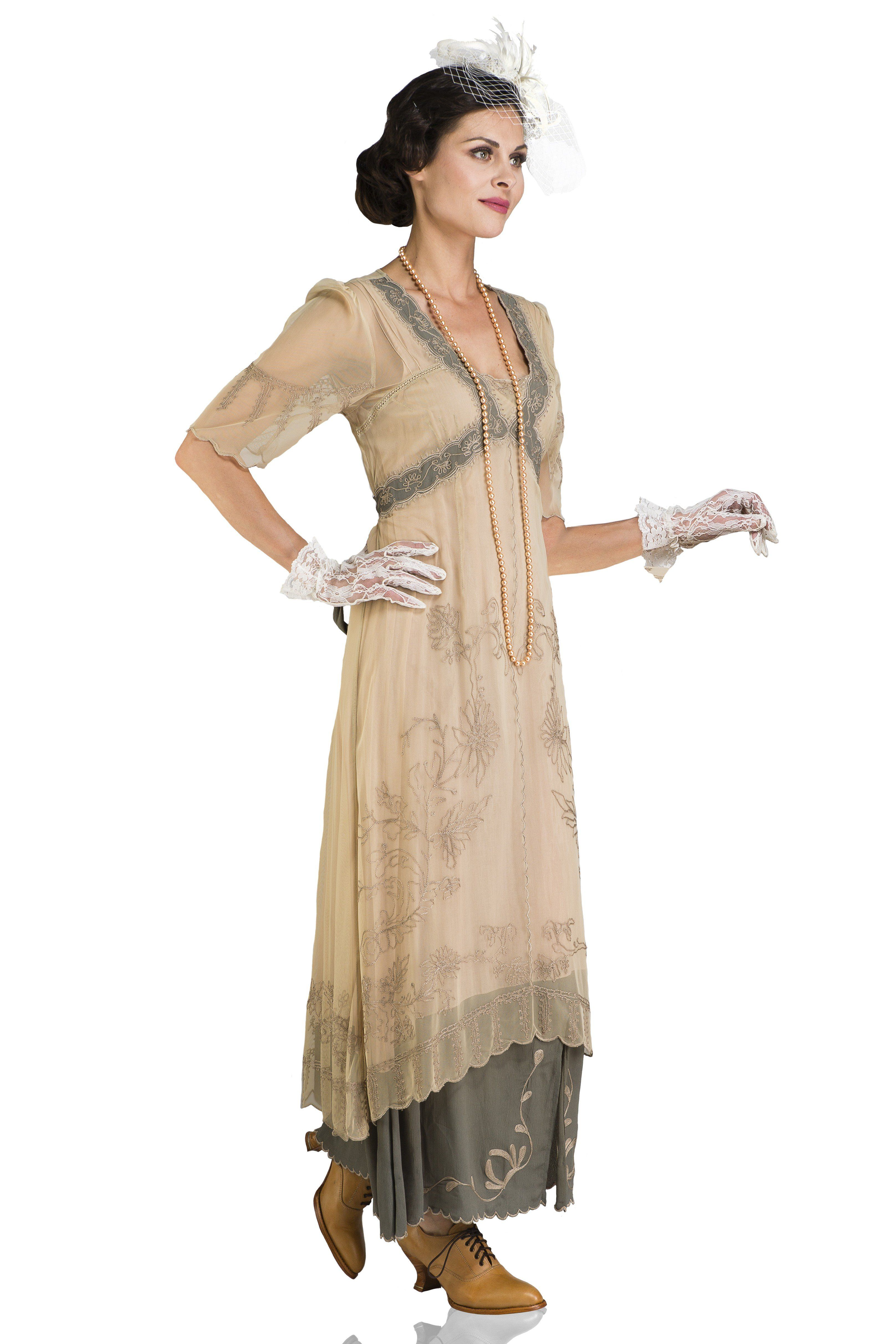 New Vintage Titanic Tea Party Dress In Sage By Nataya In 2021 Tea Party Dress Dresses Informal Wedding Dresses [ 4850 x 3233 Pixel ]