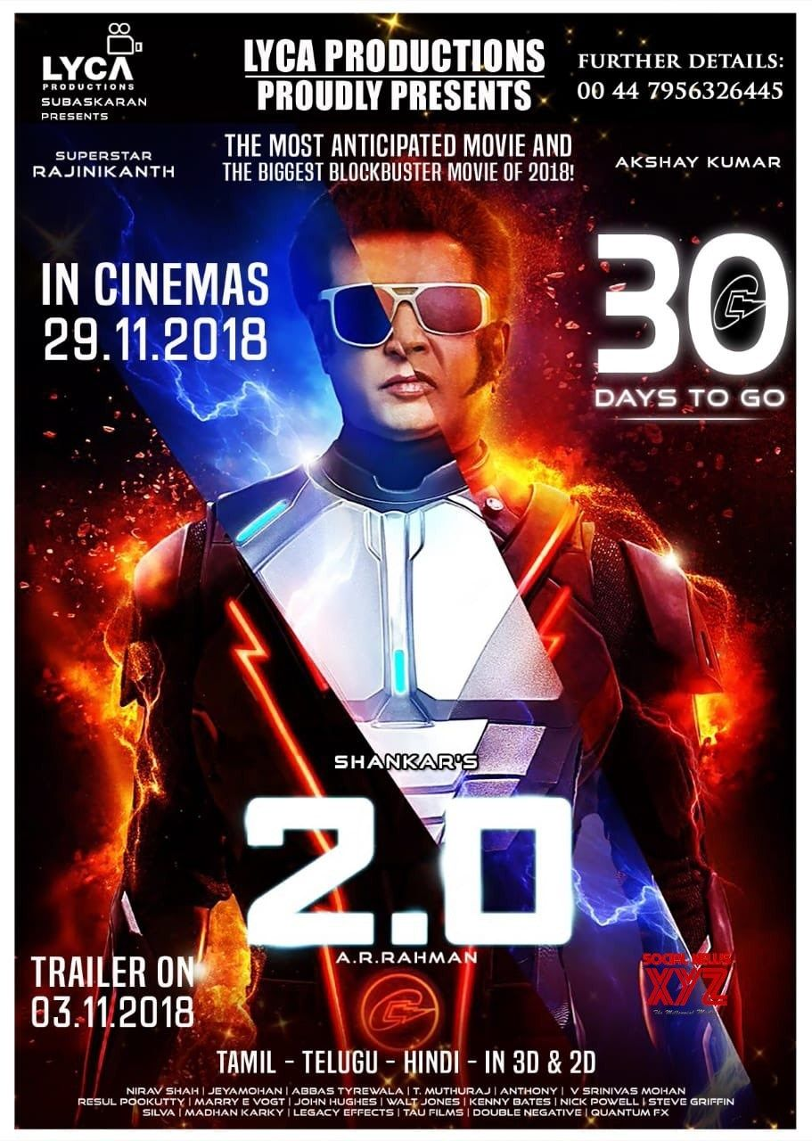 2  Days To Go Poster Social News Xyz 30 Days To Go For The Most Anti Ted Magnum Opus 2point0 Releasing Worldwide November 29th Superstar