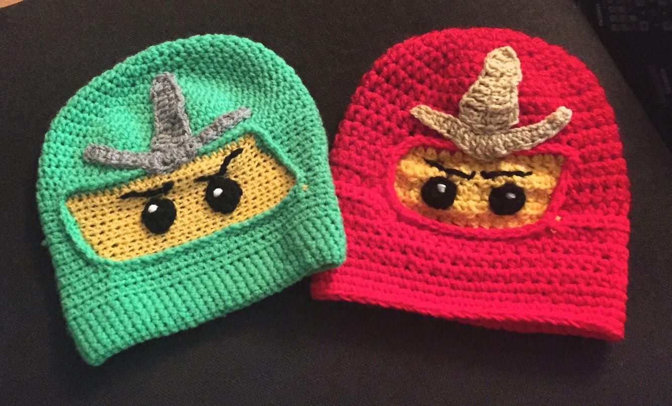Ninjago Mützen Gehäkelt Für Kinder Meine Werke Crochet
