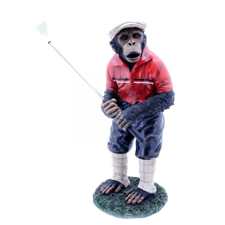 Golf Statues Home Decorating | Monkey statue, Bunny statue ...