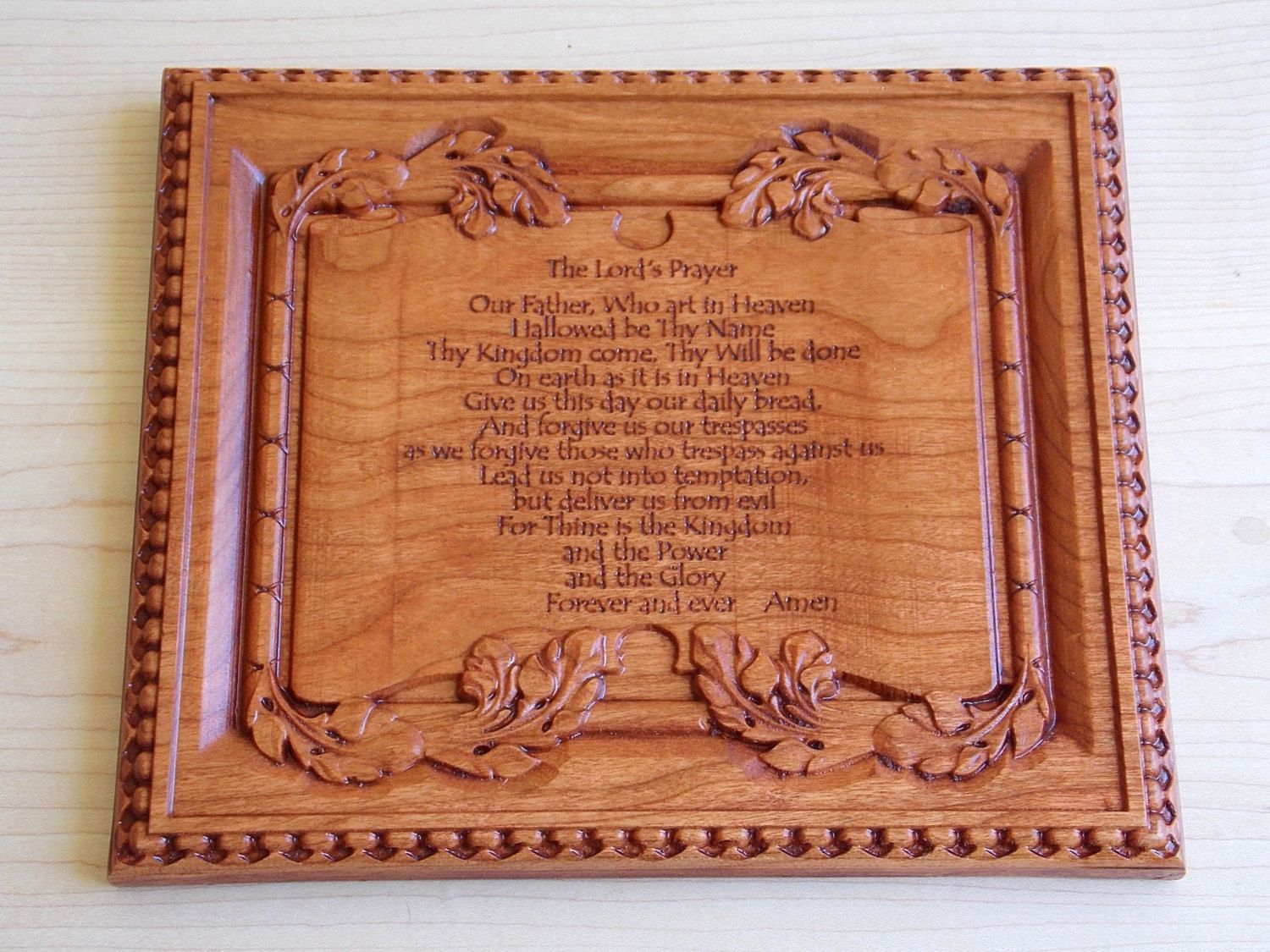 The lords prayer wooden sign by thewoodgraingallery