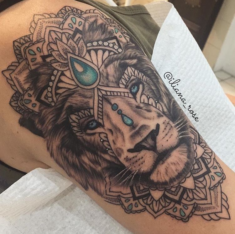 Pin By Jamyahhh On Tatuagens Thigh Tattoos Women Mandala Lion Tattoo Tattoos