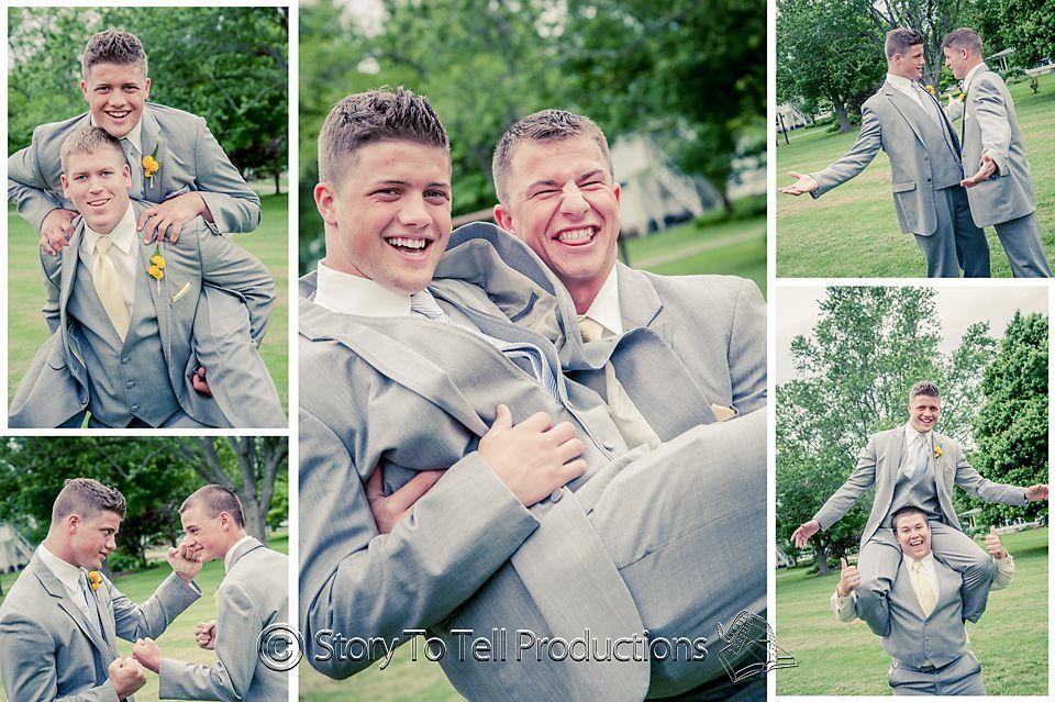 Boys will be boys! http://storytotell.me/blog/mr-mrs-ault/ Wedding Photography