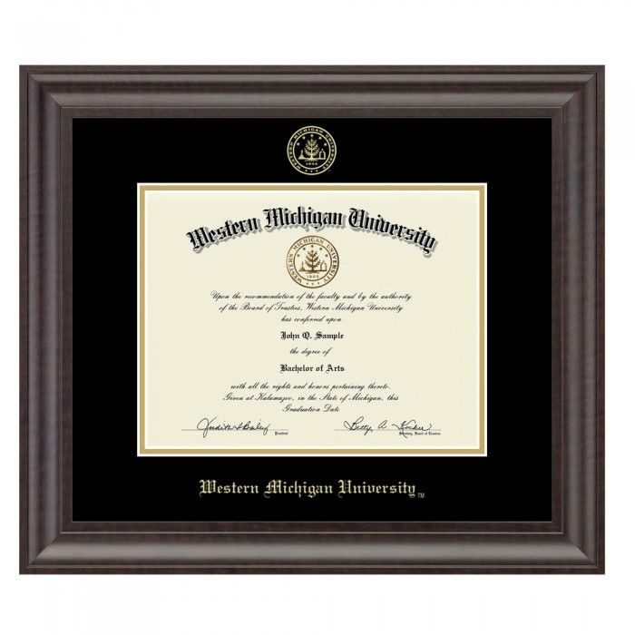 Western Michigan University Gold Embossed Diploma Frame In Acadia At ...
