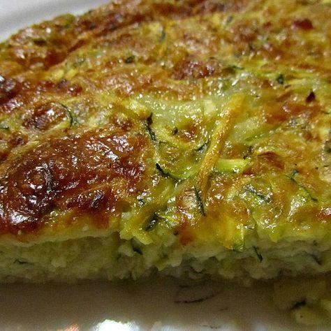Zucchini - Käse - Kuchen #vegetariandish