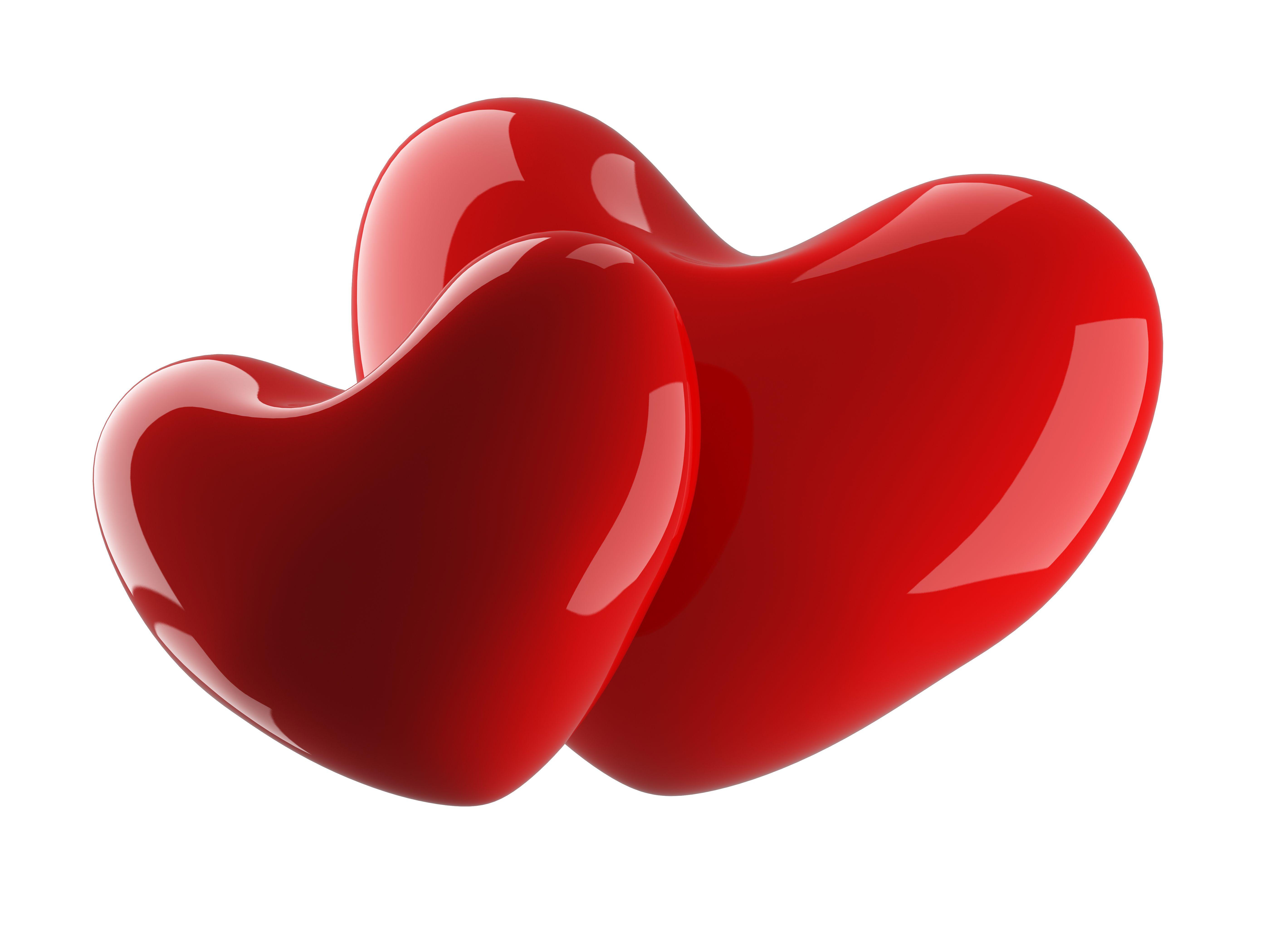 3д картинки сердечки