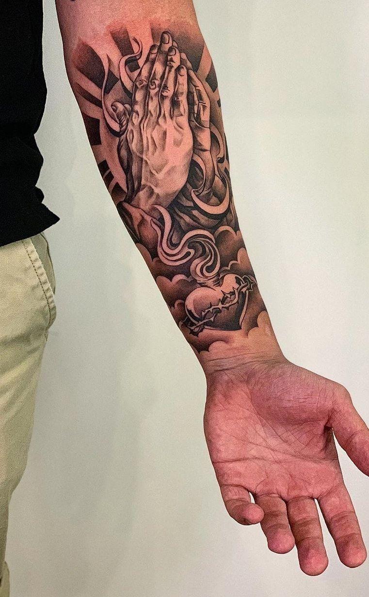 Tatuagens Religiosas Confira As 80 Melhores Inspiracoes In 2020 Sleeve Tattoos Watch Tattoos Arm Tattoos For Guys