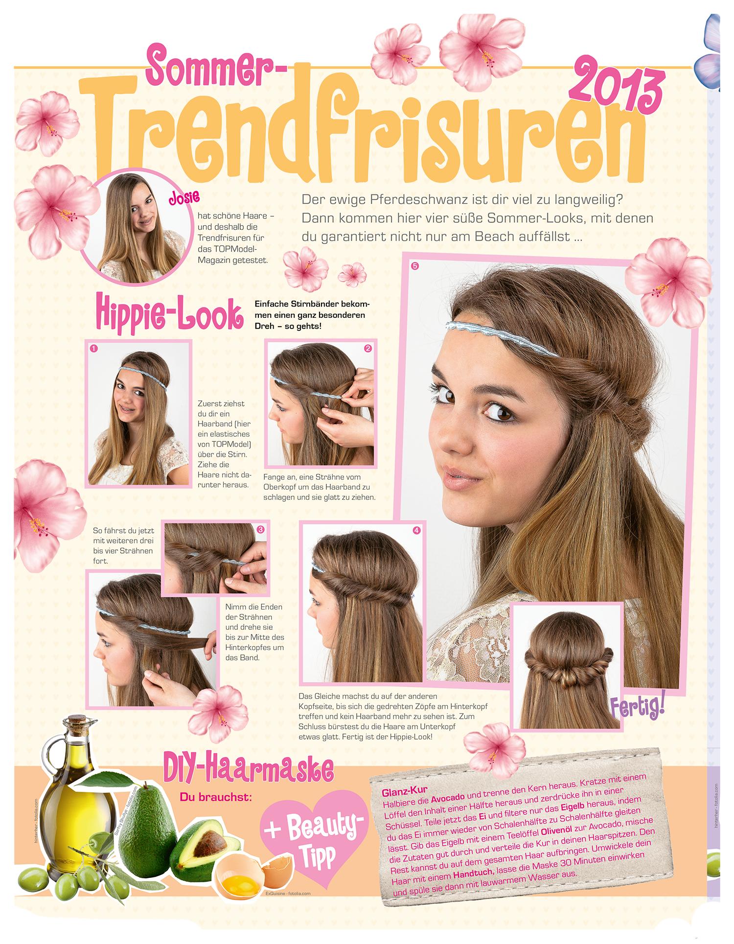 Tolle Frisuren Ideen Im Topmodel Magazin Frisur Haarmaske Beauty Hochzeitsfrisur Sommer Sac Orgu Modelleri