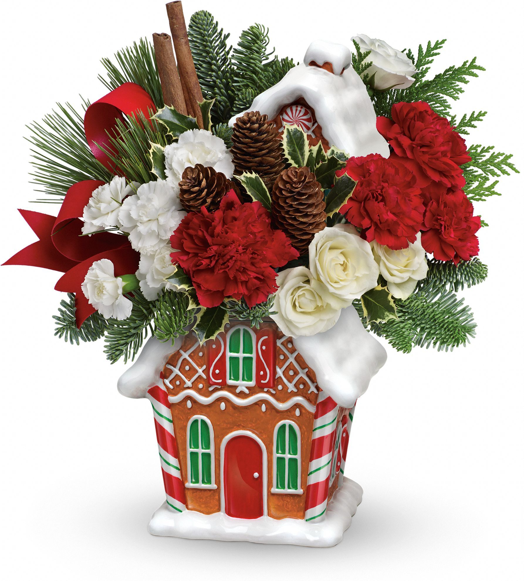 Teleflora's Gingerbread Cookie Jar Bouquet Christmas