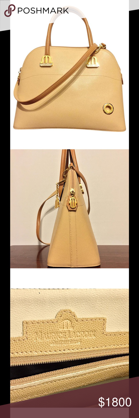 Maurice Lacroix Rare Leather Alma Handbag Charm Super Switzerland By