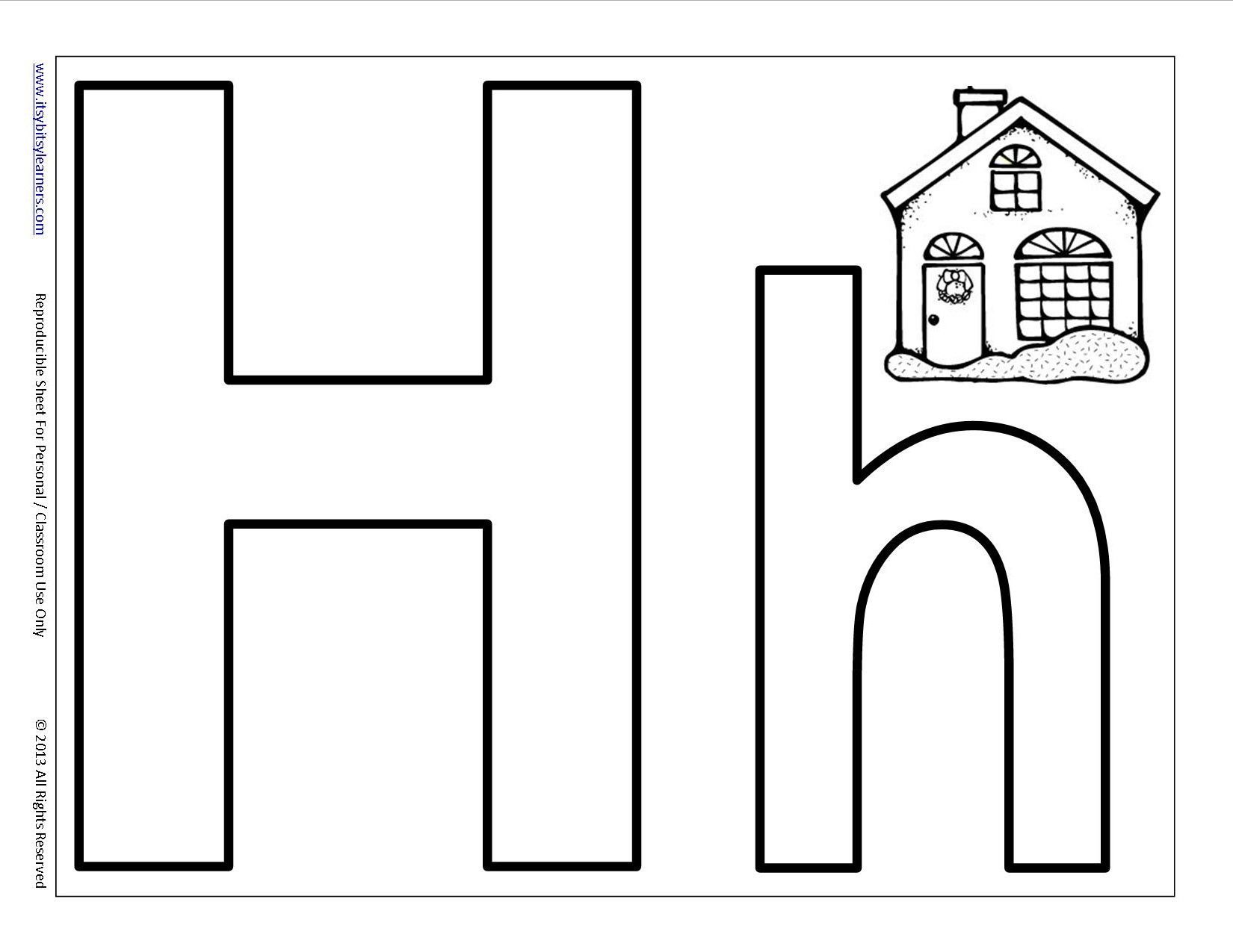 Activities With The Letter H For Preschoolers Preschool