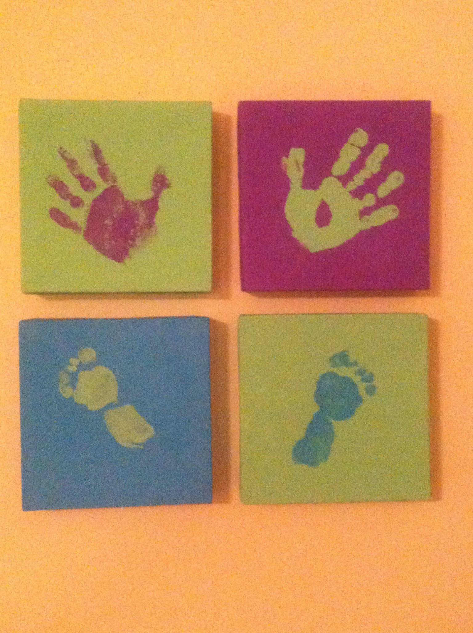 Handprint / footprint wall art | HOME | Pinterest | Footprint ...