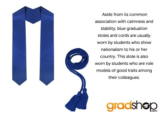 Did you know that blue graduation stoles mean....