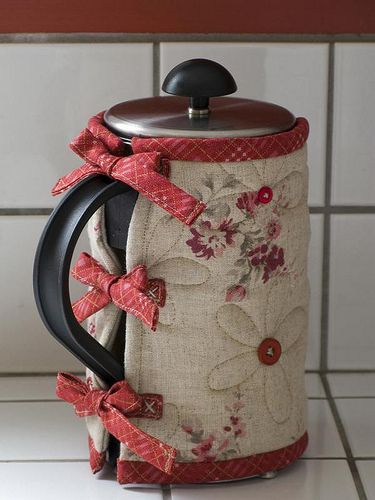 Linen & Red French Press Cozy
