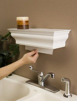 Paper Towel Dispenser And Shelf I Think This Is My Favorite Idea Great For Kitchen Bathroom Over Utility