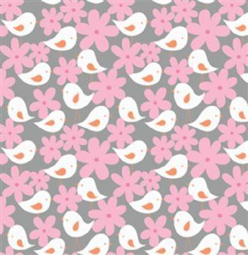 Free Spirit Get Together Birds & Flowers Gray