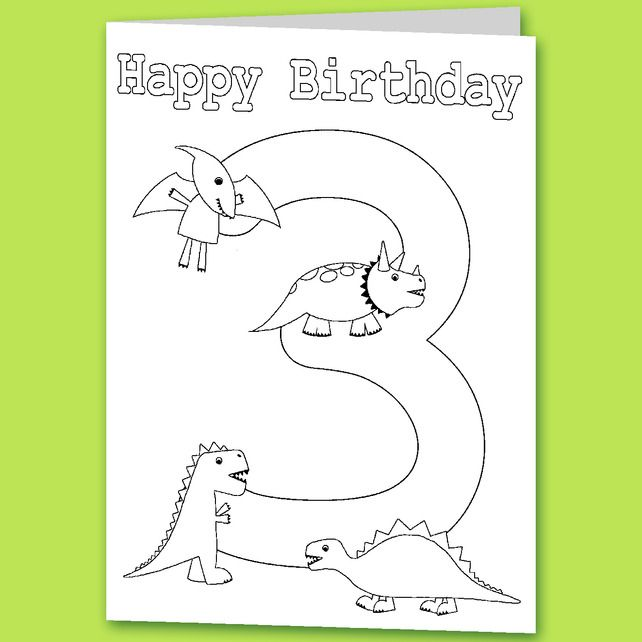 Childrens Colour Your Own Birthday Card By Clarkie Designs