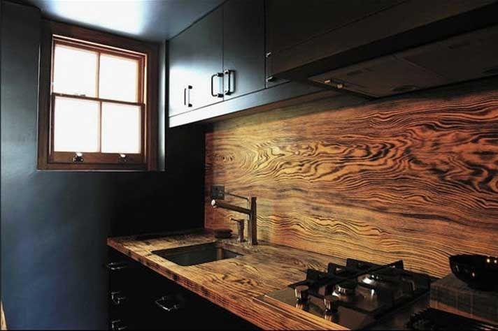 Interessant Kuchenruckwand Holz Das Gleiche Wie Arbeitsplatte Kuche