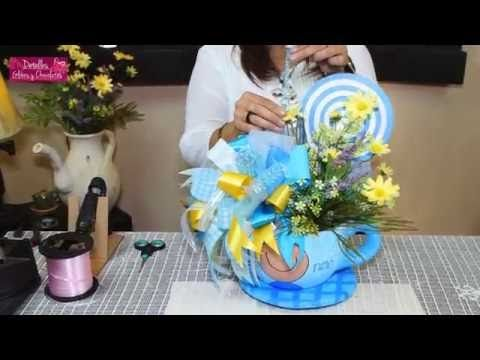 Centro de mesa para Boda/Centerpiece for wedding /By Gaby Delgado - centros de mesa para baby shower