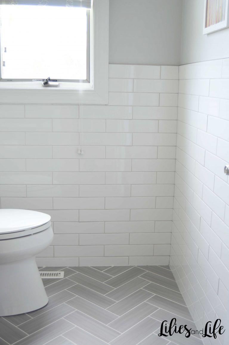 White Tiles Bathroom Floor Trendecors, Bathroom White Subway Tile