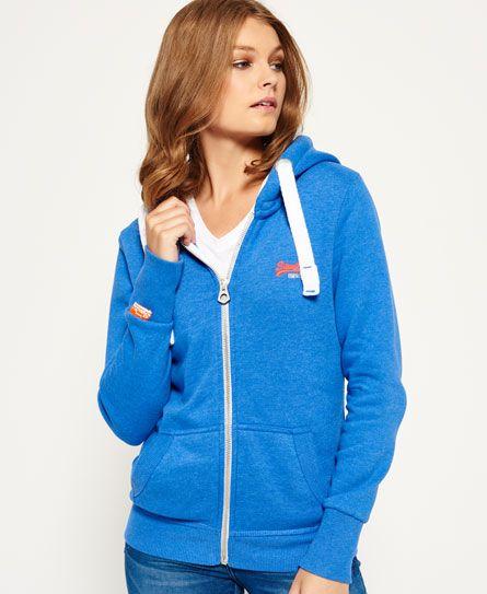 Superdry Sweat zipp� � capuche Orange Label Primary Bleu. SuperdryZip  HoodieLabelHooded SweatshirtsZippersWomanHooded Sweater